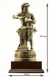 The Armourers Statue with Dimensions